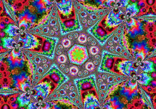 Interactive psychedelic kaleidoscope