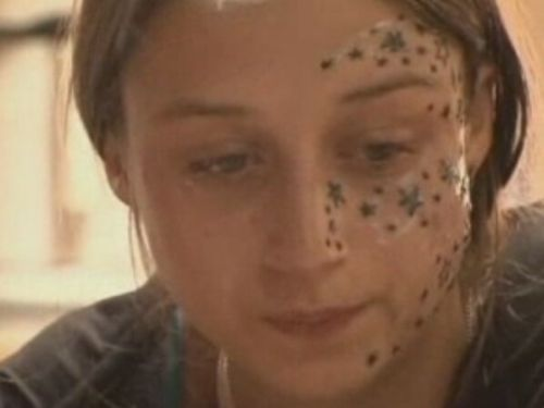 She asked 3 stars on her face… she got 56! (13 pics)