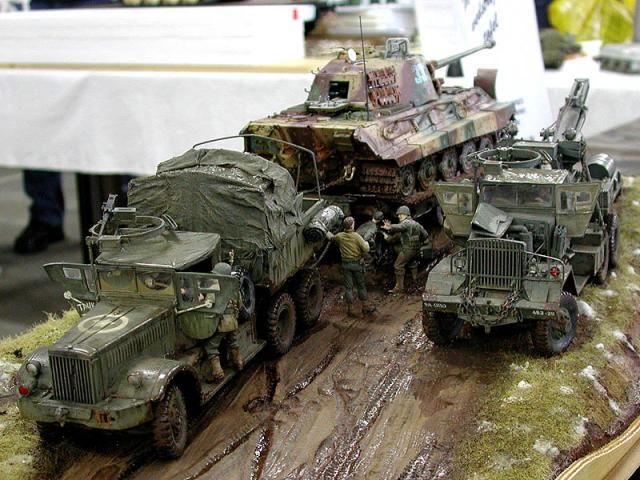 Models of military technology and equipment from the WWII ...