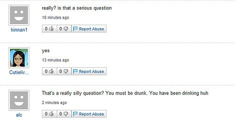 Funny Yahoo questions and answers (58 stories)