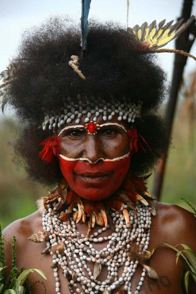 Papuan make-up (18 pics)