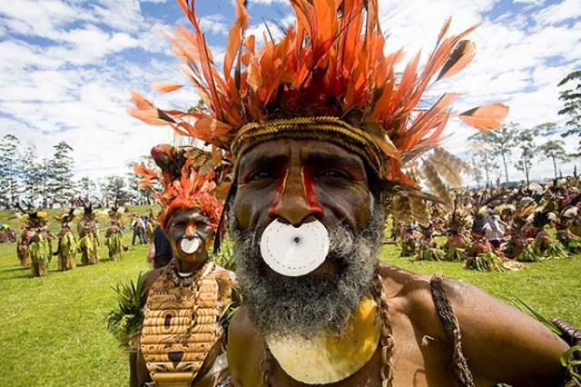 Papuan make-up (18 pics)