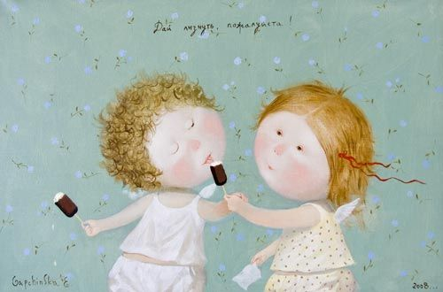 Cute paintings by the Ukrainian artist Evgenia Gapchinska (35 pics)