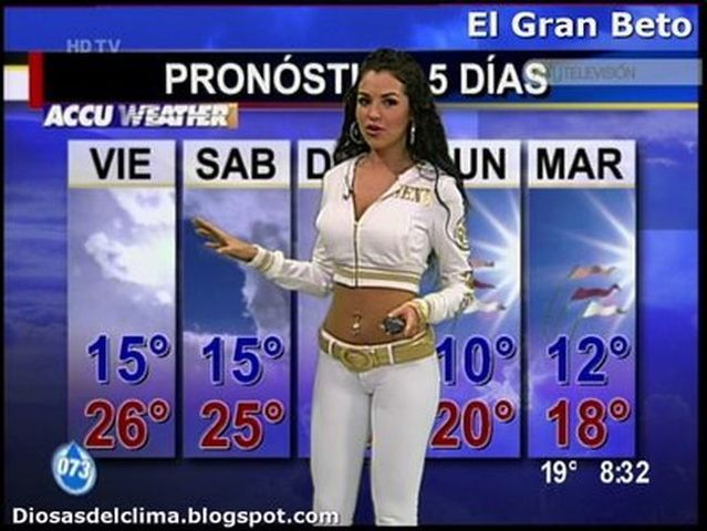 stunning weather woman mayte carranco  23 pics   1 video
