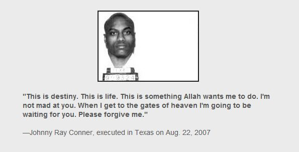 Prisoners' last words before execution (35 prints)