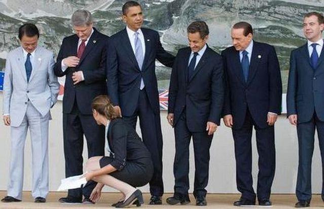 Obama and Sarkozy. Boys Will Be Boys (11 pics + 1 video)
