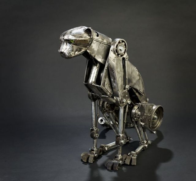Mechanical cheetah in Steampunk style (6 photos + 1 gif)