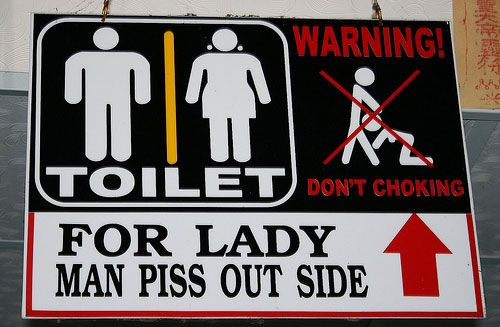 Humorous and unclear toilet signs or directions (20 pics)