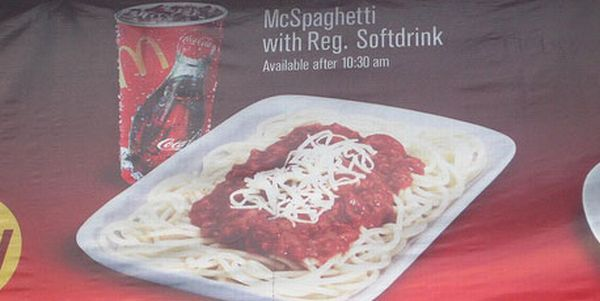 McDonald's menu depending on location (43 pics)