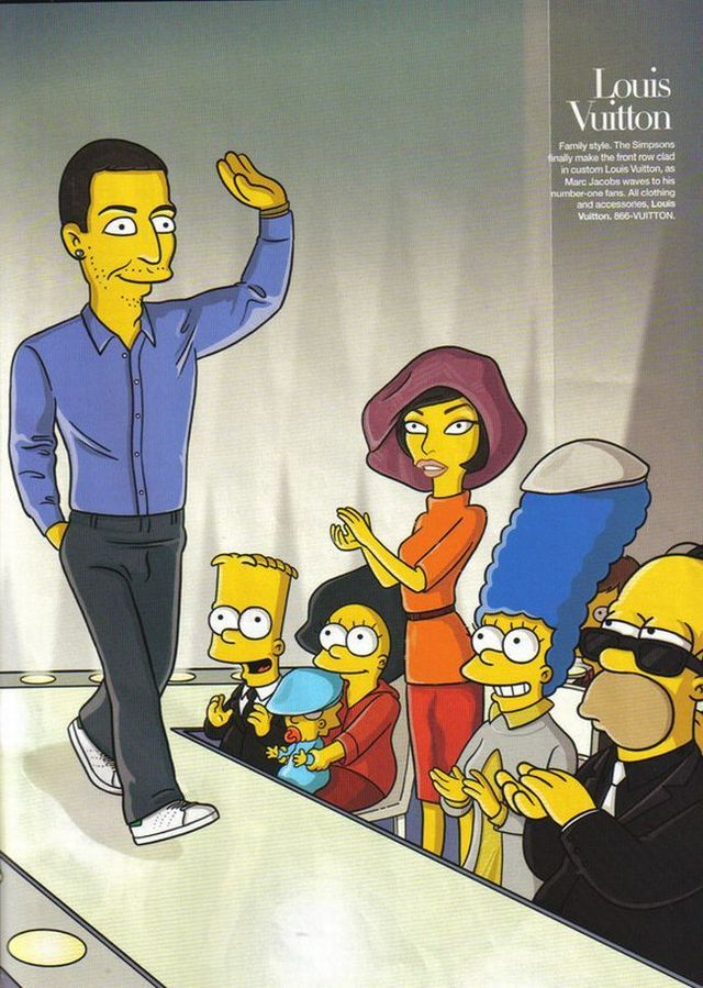 The Simpsons go to Paris with Linda Evangelista (7 pics)