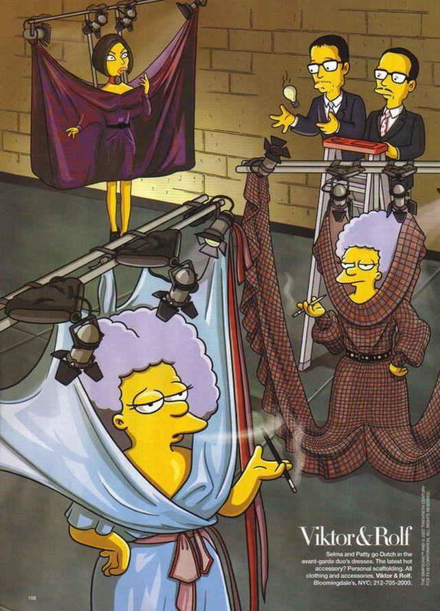 The Simpsons go to Paris with Linda Evangelista (7 pics)
