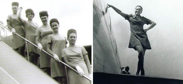Stewardess in the past (35 pics)