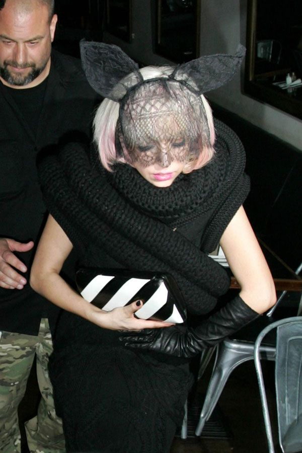 Lady Gaga in the weird outfit (7 pics)