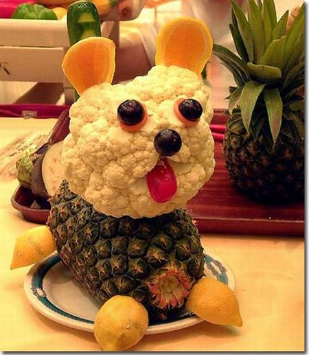 Sculptured fruits and vegetables. Good work! (17 pics)
