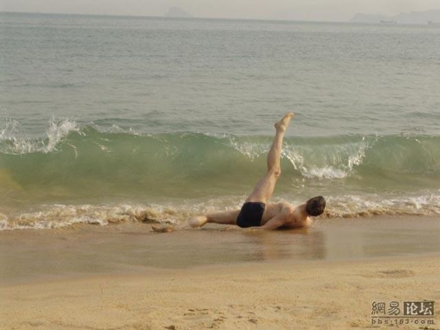 """Ballet dancer"" on the beach (16 pics)"