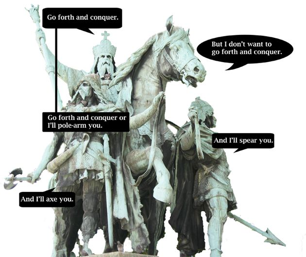 What if horse statues could speak? (7 pics)