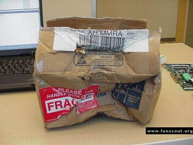 Why you shouldn't order a graphics card by mail (19 pics)