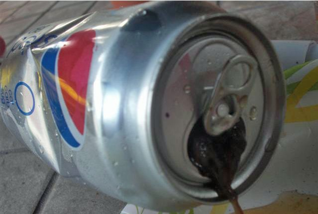 Bad surprise in a can of Pepsi (9 pics)