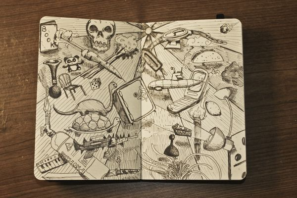 Cool sketchbook by Michael Murdock (15 pics)