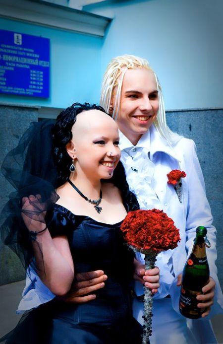 Goth wedding (33 pics)