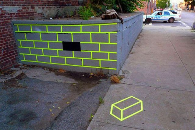 Urban art from Aakash Nihalani  (11 pics)