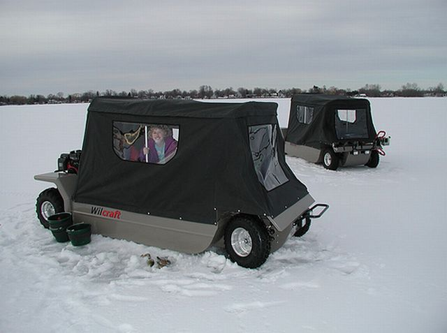 American machine for fishing (15 pics)