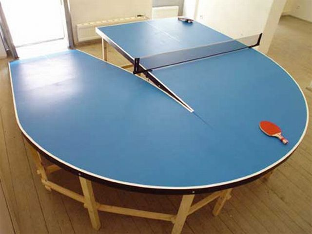 The most unusual tables for ping pong (10 pics)