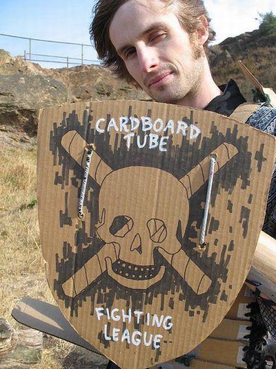 Cardboard Tube Fighting League (67 pics)
