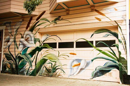 16 cool graffitis on garage doors (16 pics)