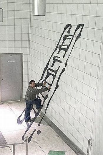 Great creative drawings in the subway (10 pics)
