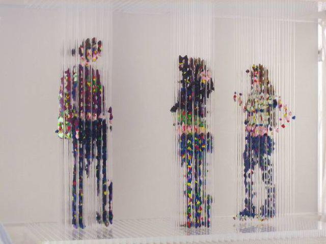 Amazing paint drop sculptures (8 pics)