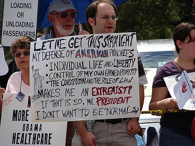 Teabaggers with signs (32 pics)