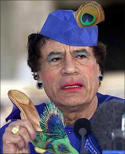 Colonel Gaddafi has his own style (30 pics)