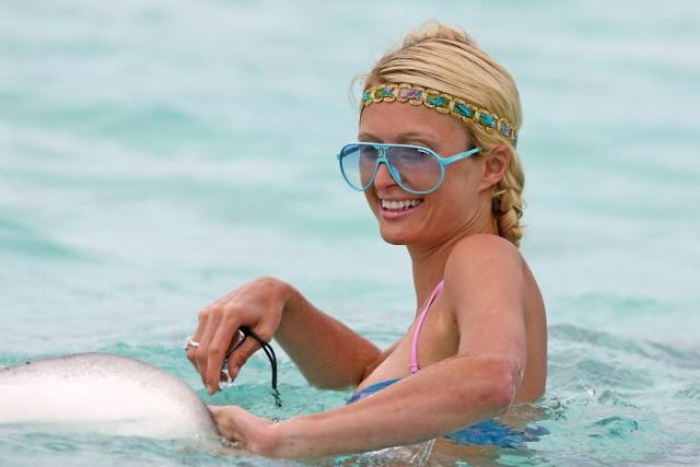 Paris Hilton on the beach (14 pics)