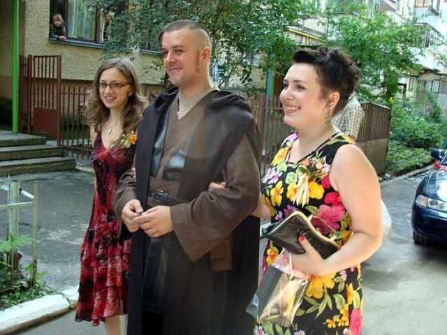 Ukrainian Star Wars themed wedding (43 pics + 1 video)