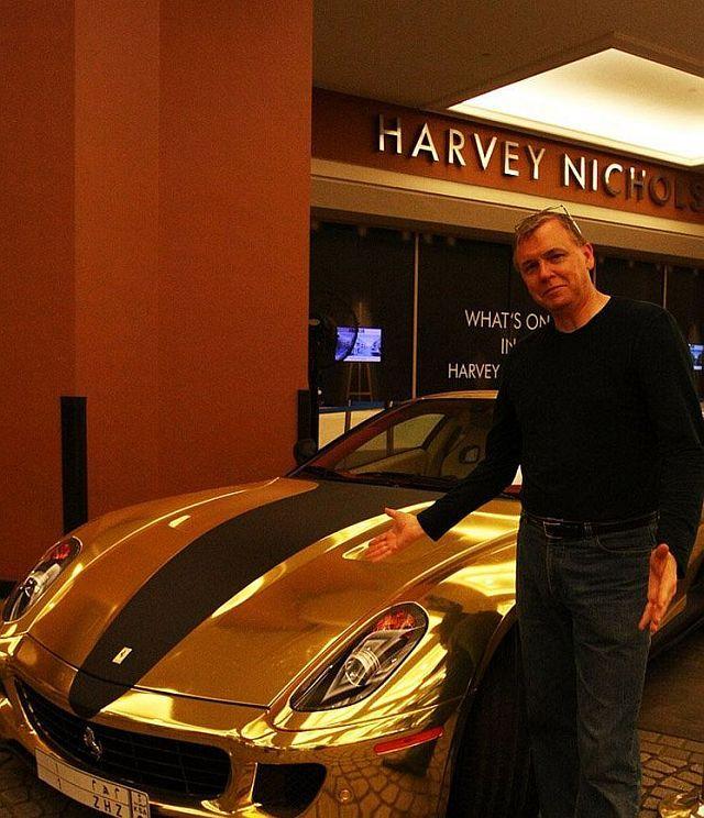 Golden Ferrari 599 GTB from Hamann (18 pics + 1 video)