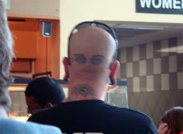 Tattoos on bald and shaved heads (25 pics)