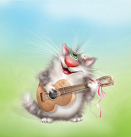 Funny cat drawings (24 pics)