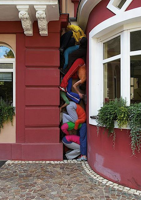 Interesting street art project from Willi Dorner (12 pics)
