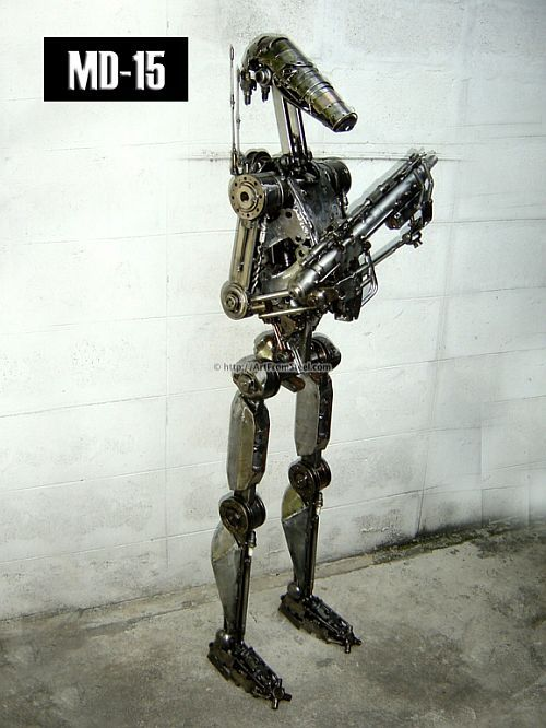 Hand-made recycled statues (77 pics)