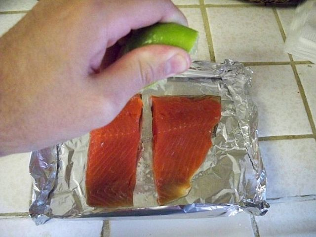 Very unusual way of cooking fish in a dishwasher (8 pics)