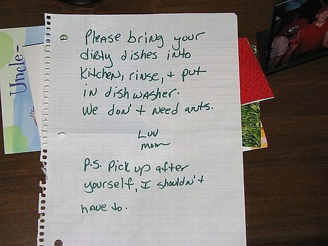 Funny Notes Left For People Sharing The Same Space 44