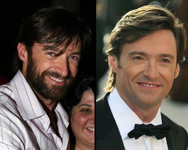 Celebs with and without a beard (12 pics)