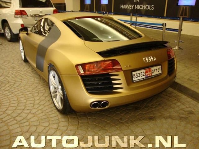 Another golden supercar from Dubai (4 pics)