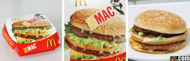Food on packaging and in real life (100 pics)