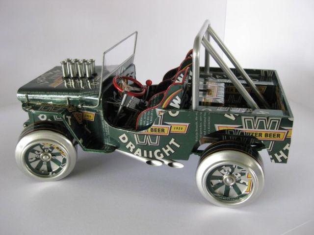 Cars from aluminium cans (52 pics)