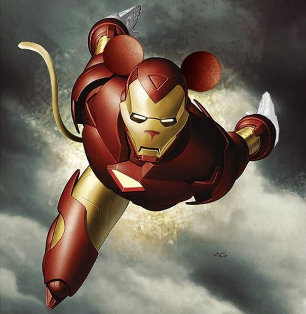 Compilation of Disney and Marvel mashups (29 pics)