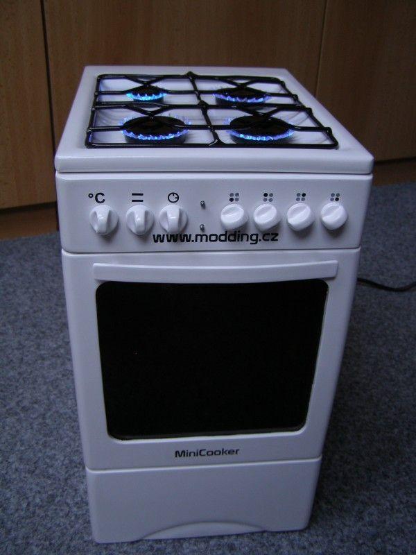 Very cool PC modding – mini gas cooker (50 pics)