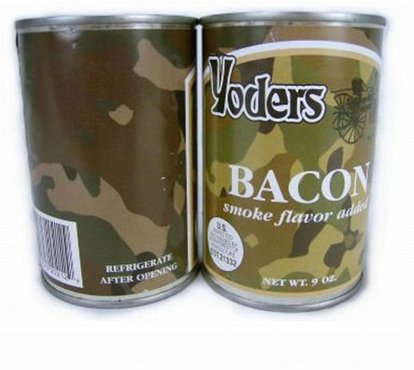 Canned bacon in case of war (6 pics)
