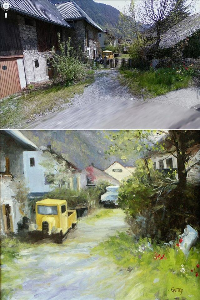 Google Street View helps artists to make beautiful paintings (9 pics)